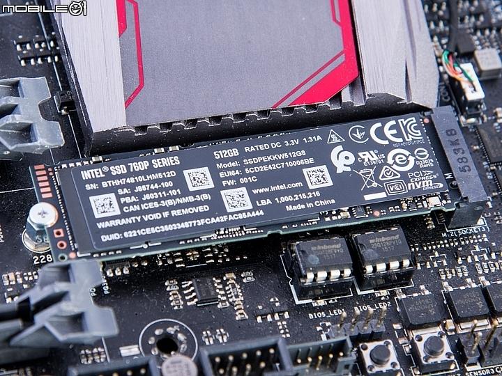 3200MB/s 高速傳輸!Intel SSD 760P 512GB 固態硬碟實測!