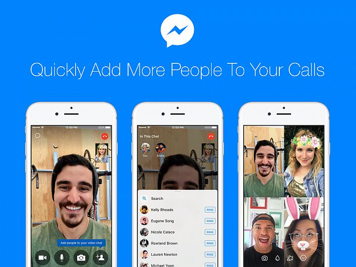 【新訊】Messenger視訊途中可以邀請更多好友 群組溝通更簡單!
