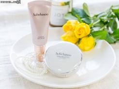 光澤系底妝新品 雪花秀透潤親膚妝前平衡乳&無瑕光感氣墊粉霜