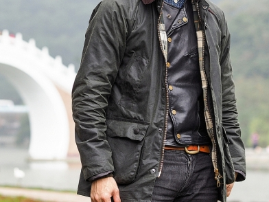 [英士經典]Barbour Bedale SL Sage Wax Jacket